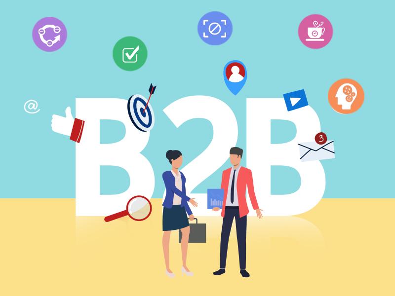 B2B Sales Prospecting illustration by MyOperator.