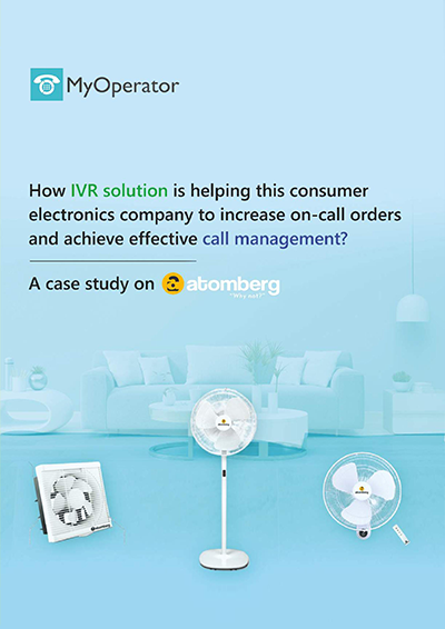 Atomberg success story with MyOperator cloud telephony solutions