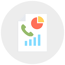 View and subscribe for call reports